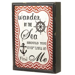 Heaven Sends Wander By The Sea Ceramic Sign