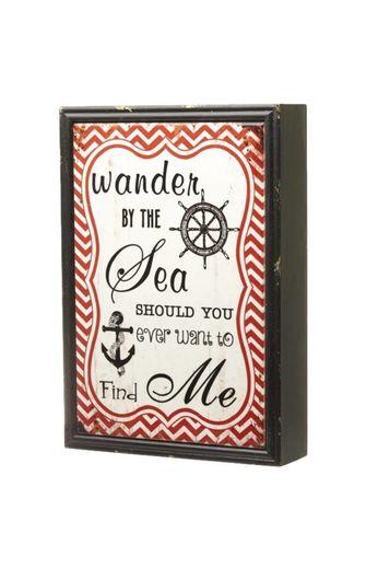 Heaven Sends Heaven Sends- Wander By The Sea Ceramic Sign