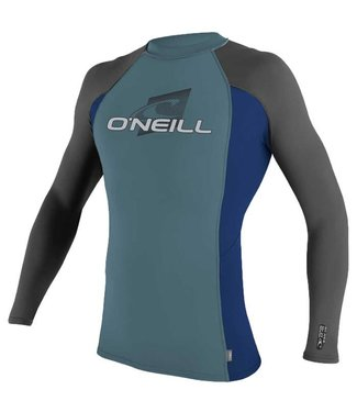 O'Neill Wetsuits Youth Skins Crew Rash Vest L/S DSTYBLU/NVY/GRAPH