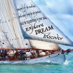 Nauticalia Greetings Card Explore Dream Discover