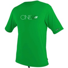 O'Neill Wetsuits Youth Skins Rash Tee S/S Green
