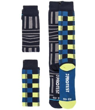 Protest Graphic Snow Socks Ground Blue