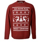 Old Guys Rule Reindeer Jumper Burgundy