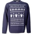 Old Guys Rule Xmas Cheer Jumper Navy