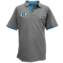 Old Guys Rule Stacked Polo Shirt Slate Grey