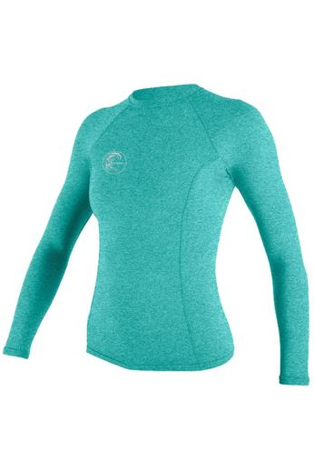 O'Neill Wetsuits Womens Hybrid Crew Rash Vest L/S Seaglass