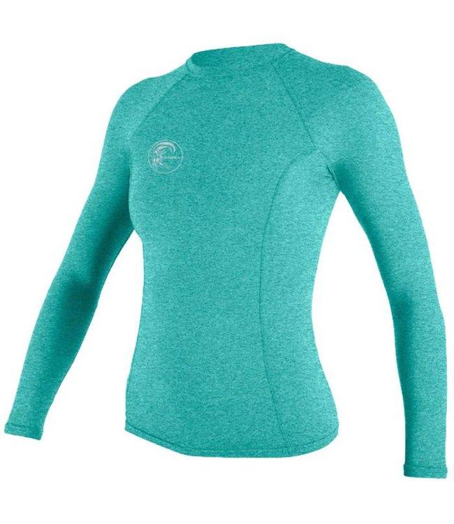 O'Neill Wetsuits Womens Hybrid Crew Rash Vest L/S Seaglass
