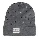 Protest Kampa Beanie Hat Dark Grey Melee