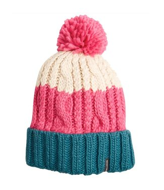 Billabong Headsss Bobble Beanie Hat Rebel Pink