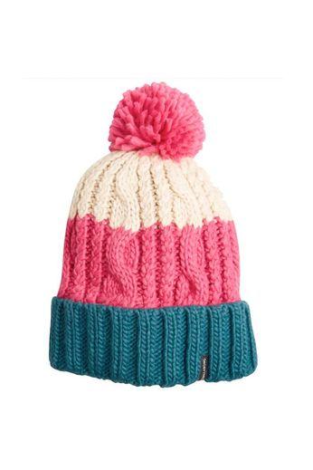 Billabong Headsss Bobble Beanie Hat Rebel Pink