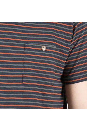 Passenger Brook T-Shirt Navy/Rust/Grey
