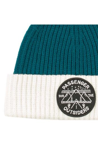 Passenger Pinecone Bobble Beanie Hat Teal