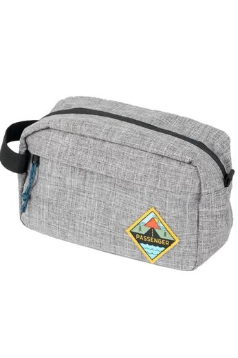 Passenger Stream Wash Bag Grey Marl