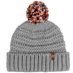 Passenger Gale Bobble Beanie Hat Grey Marl