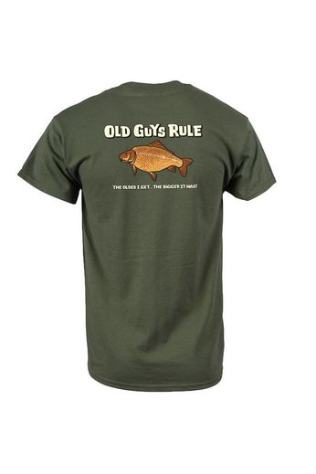 Old Guys Rule Bigger It Was Fish T-Shirt Back Print Green