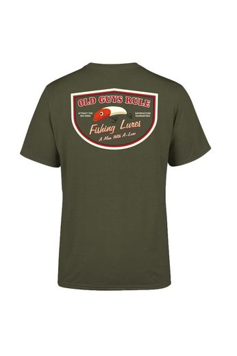 Old Guys Rule Man With A Lure T-Shirt
