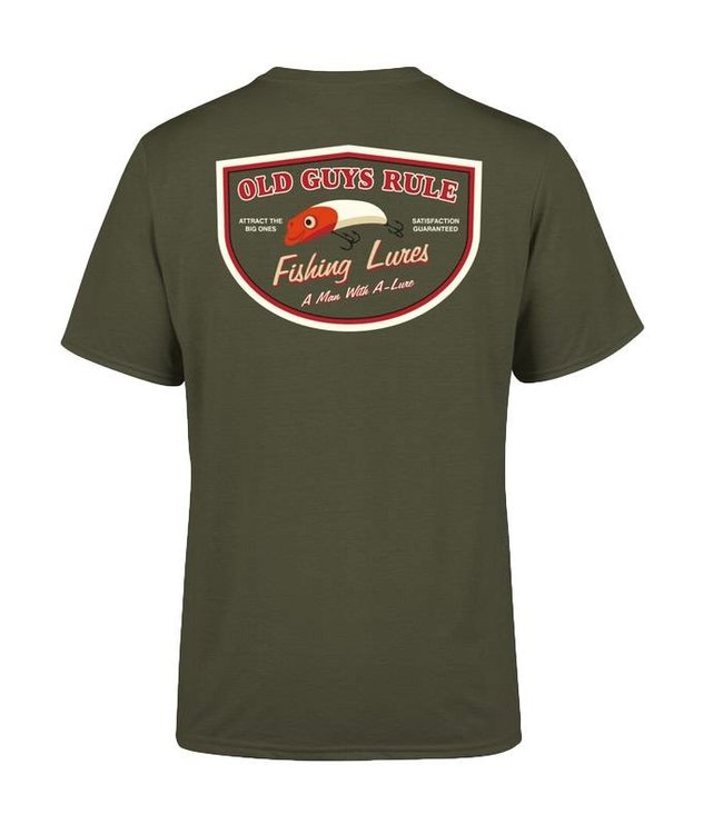 Old Guys Rule Man With A Lure T-Shirt DS