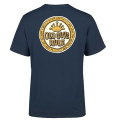 Old Guys Rule Coin Logo T-Shirt Blue Dusk