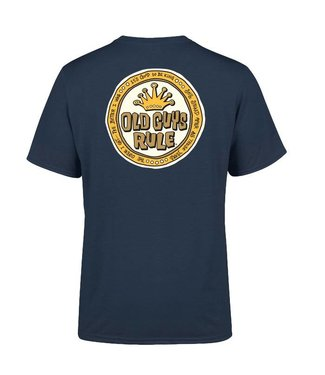 Old Guys Rule Coin Logo T-Shirt Blue Dusk DS