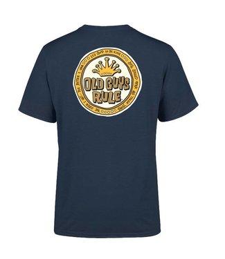 Old Guys Rule Coin Logo T-Shirt Blue Dusk