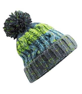 Beechfield Kids Corkscrew Beanie - Electric Grey