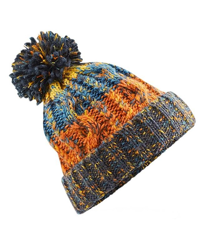 Beechfield Kids Corkscrew Beanie - Retro Blue