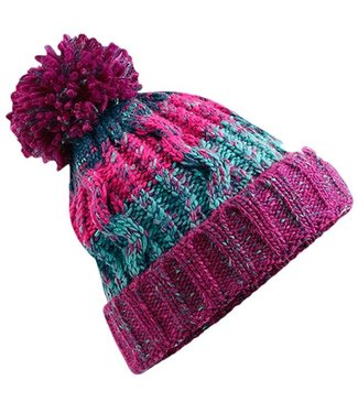 Beechfield Kids Corkscrew Beanie - Winter Berries
