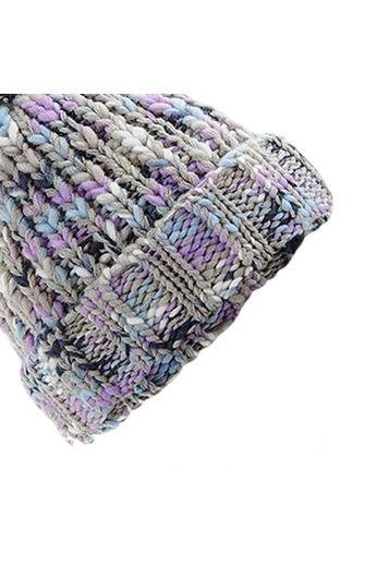 Beechfield Twister Pom Pom Beanie - Lavender