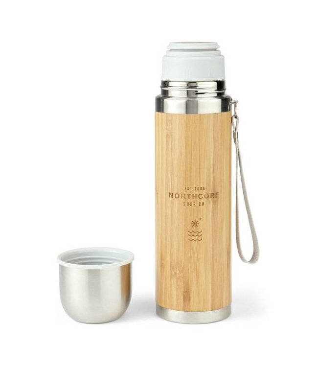 Northcore Northcore Bamboo Stainless Thermos Flask with Mug
