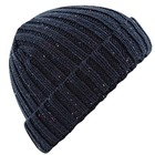 Beechfield Rustic Fleck Beanie - French Navy