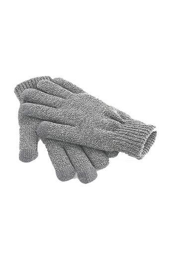 Beechfield Touch Screen Gloves Heather Grey