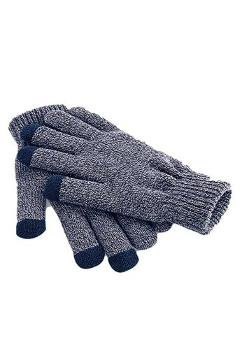 Beechfield Touch Screen Gloves Heather Navy