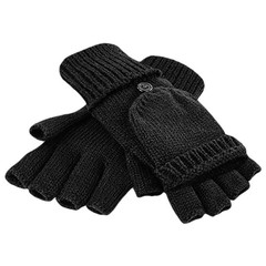 Beechfield Beechfield Fliptop Gloves - Black