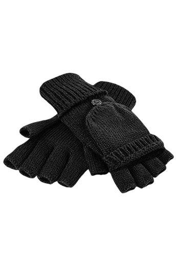 Beechfield Beechfield Fliptop Gloves - Black