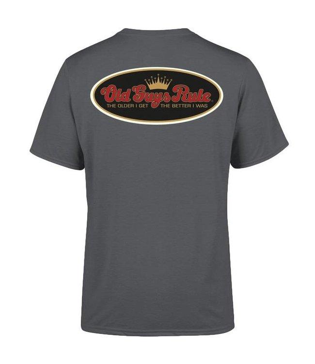 Old Guys Rule Older I Get T-Shirt Charcoal