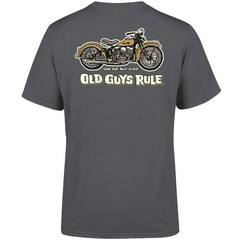 Old Guys Rule Panhead T-Shirt Charcoal