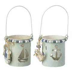Heaven Sends Anchor & Boat Tea Light Holder Set of 2
