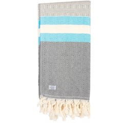Passenger Lily Beach Towel Grey Turquoise