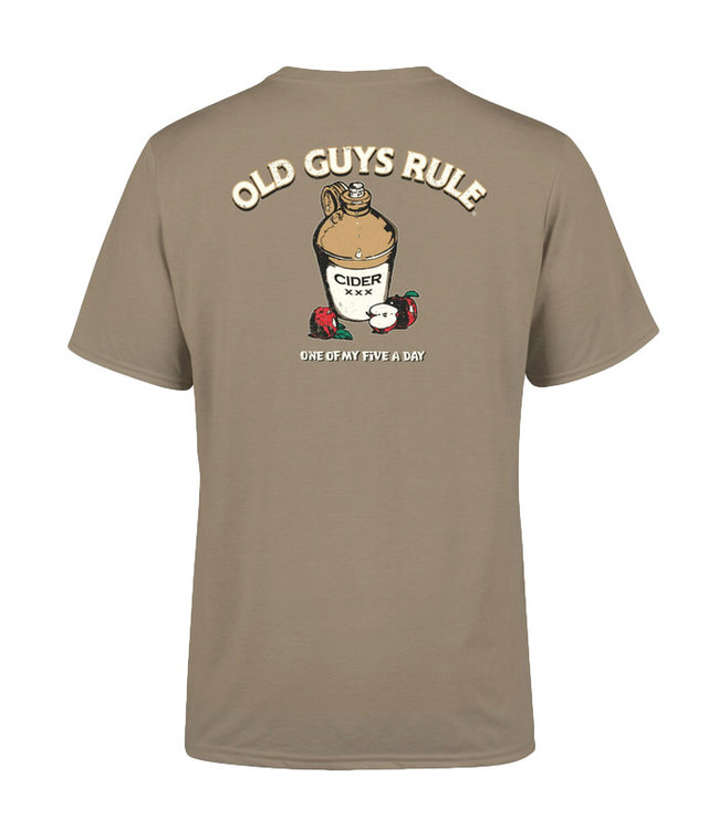 Old Guys Rule Five A Day T-Shirt DS