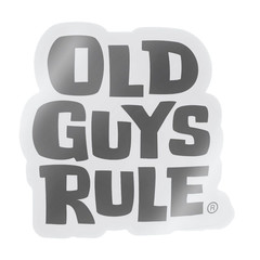 Old Guys Rule Stacked Logo Decal Sticker Black