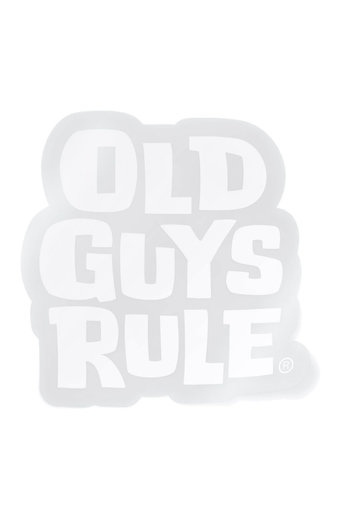 Old Guys Rule Stacked Logo Decal Sticker White