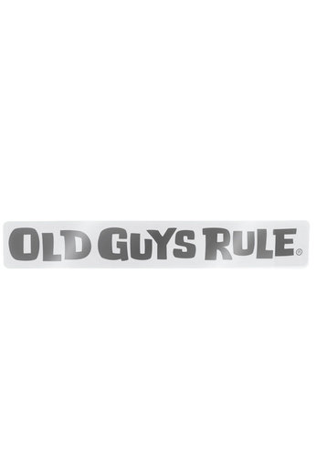 Old Guys Rule Horizontal Logo Decal Sticker Black