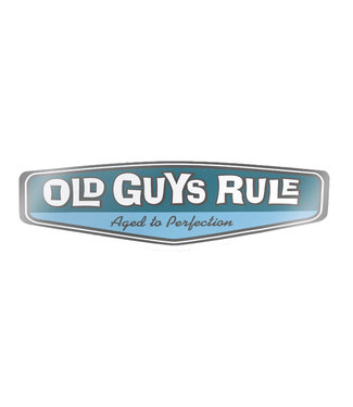 Old Guys Rule Rear View Decal Sticker