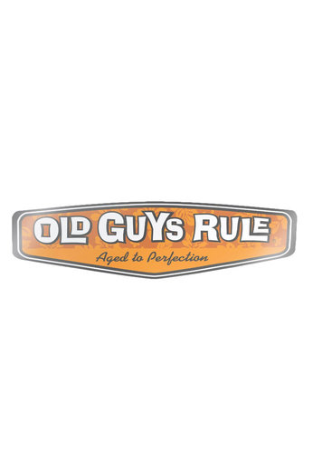 Old Guys Rule Rear View Hibiscus Decal Sticker