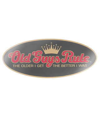 Old Guys Rule Older I Get Decal Sticker