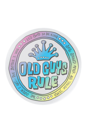 Old Guys Rule Coin Logo Fluro Decal Sticker