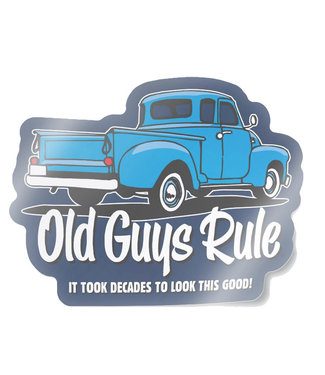 Old Guys Rule It Took Decades Decal Sticker