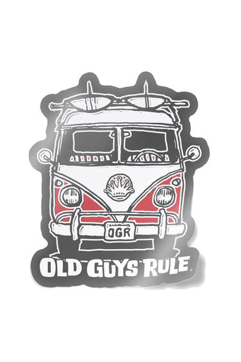 Old Guys Rule Good Vibes Decal Sticker