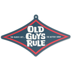 Old Guys Rule Stacked Diamond Air Freshener