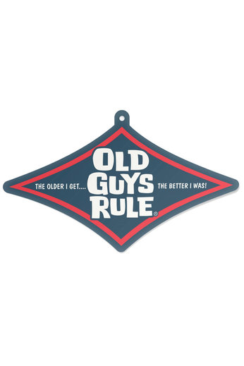 Old Guys Rule Stacked Diamond Air Freshener
